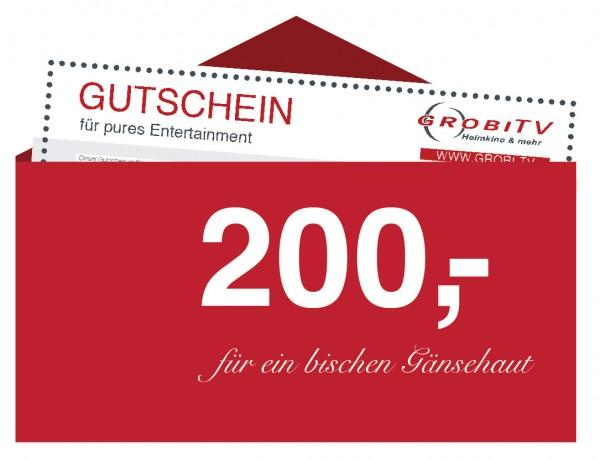 GROBI TV Geschenkgutschein 200