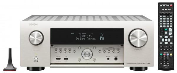 DENON AVC X4700H mit BookaShade und Mensch PureAudio und Auro3D Schild