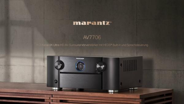 """Marantz AV7706 Vorstufe mit BookaShade """"Dear Futur Self"""" und Mensch PureAudio mit Dolby"""