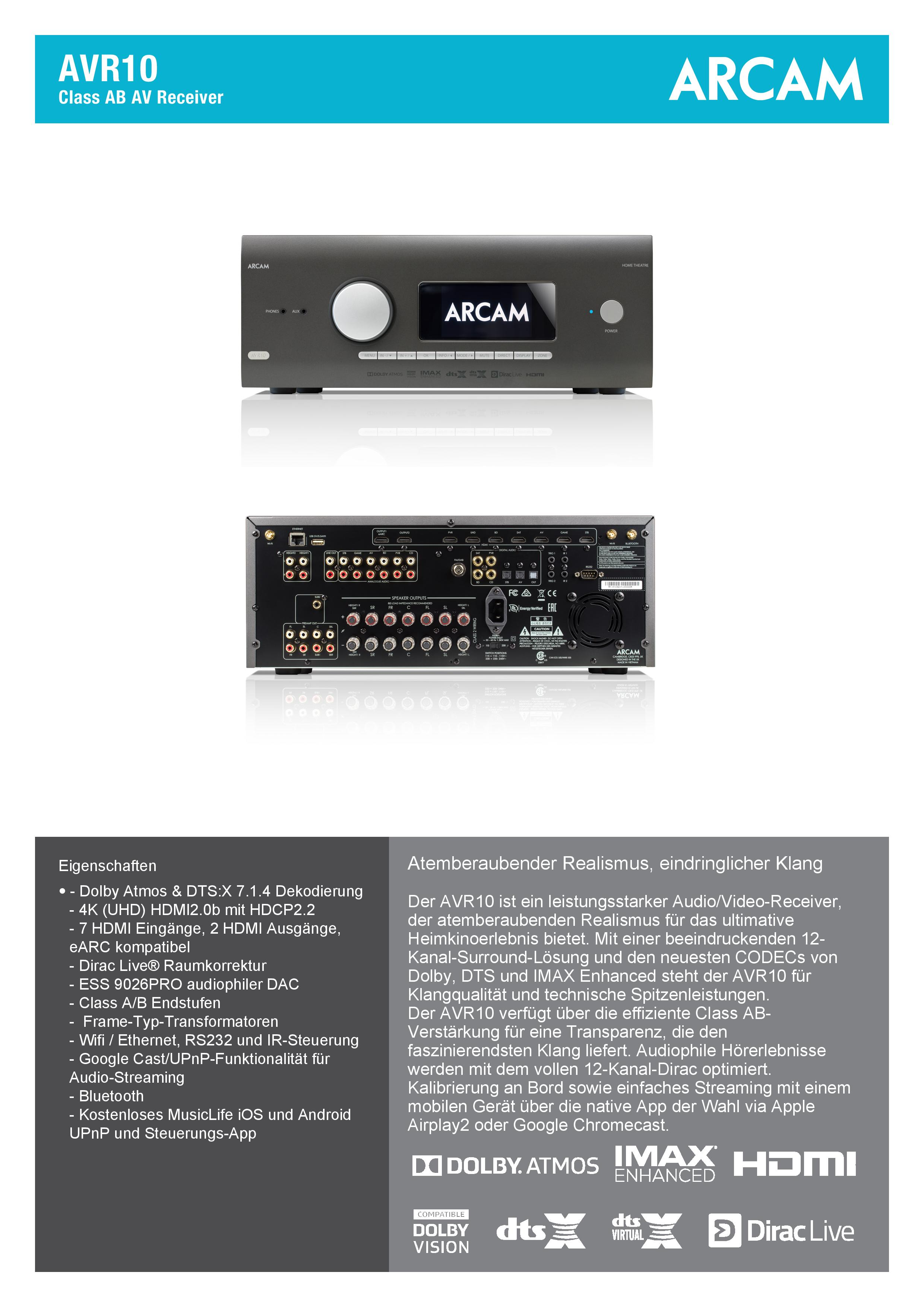 ARCAM-AVR10-Spec_DE-page-001
