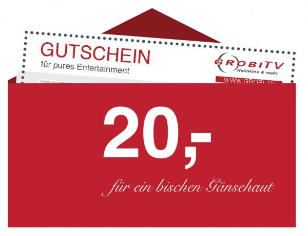 GROBI TV Geschenkgutschein 20 EUR