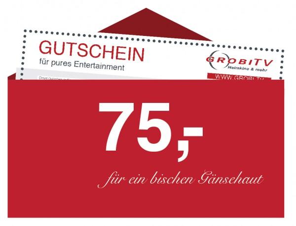 GROBI TV Geschenkgutschein 75 EUR
