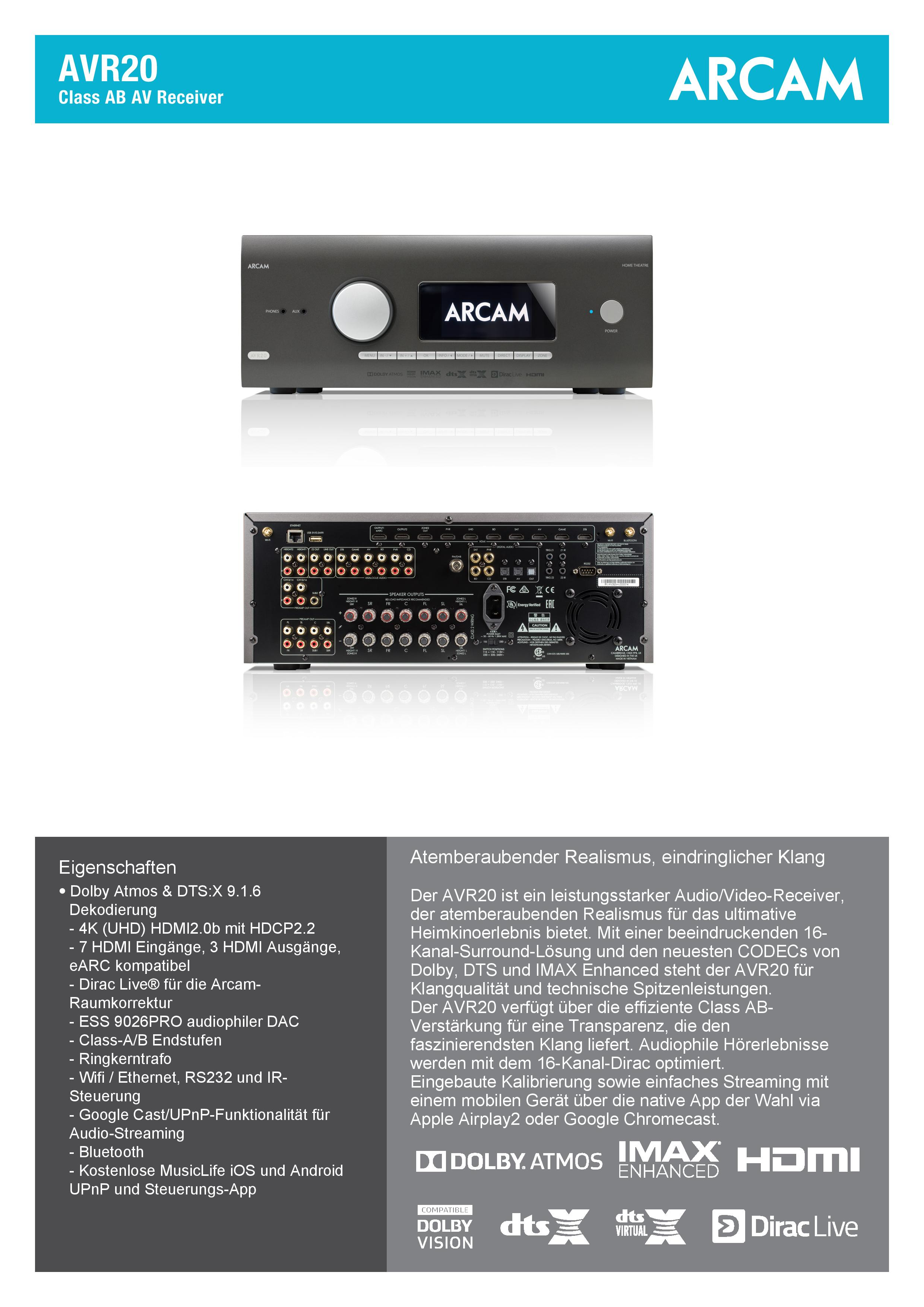 ARCAM-AVR20-Spec_DE-page-001