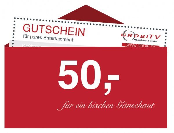 GROBI TV Geschenkgutschein 50 EUR