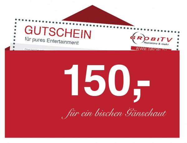 GROBI TV Geschenkgutschein 150